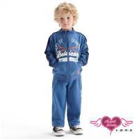 天使霓裳 運動明星 外套長褲兩件組童裝套裝(藍) J1101333A