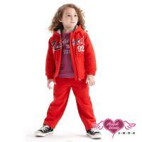 天使霓裳 運動甜心 Friend92連帽外套長褲兩件組童裝套裝(紅) J1101300A
