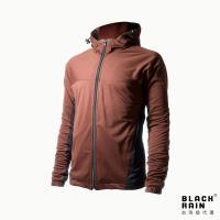 【Black Rain】連帽休閒保暖夾克 BR-113060(14180 紅褐/黑)