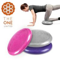 The One 按摩顆粒瑜珈平衡盤/平衡氣墊(附打氣筒)-三色任選