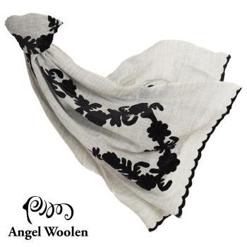 Angel Woolen花妍印度手工刺繡cashmere羊絨披肩