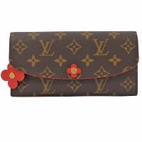 Louis Vuitton LV M62941 EMILIE 經典花紋花飾扣式零錢長夾 現貨