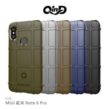 QinD MIUI 紅米 Note 6 Pro 戰術護盾保護套