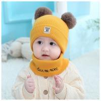 寶寶針織圍脖毛球帽(6-36個月) 嬰兒帽+圍脖