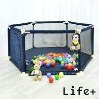 Life Plus 貝得力兒童安全防護圍欄/遊戲床-加大款(藍色)
