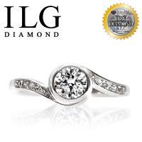 【頂級美國ILG鑽飾】八心八箭擬鑽戒指-S925純銀電鍍頂級白K 0.75克拉-RI197