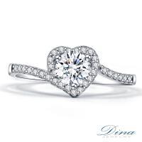 【DINA 蒂娜珠寶】 心鑽 GIA 0.30克拉 D/I2 鑽石求婚女戒(鑽石戒指)
