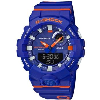 【CASIO 卡西歐】G-SQUAD 系列潮流撞色智慧藍芽手錶-紫紫(GBA-800DG-2A)