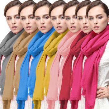 百搭素色100%羊毛披肩 圍巾