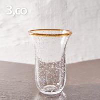 3,co 手工氣泡感玻璃杯(大) - 茶邊