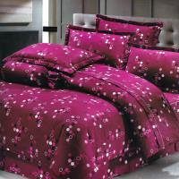 艾莉絲-貝倫 浪漫來襲(6x6.2呎)六件式雙人加大(100%純棉)鋪棉床罩組-紫紅色