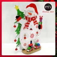 繽紛耶誕創意DIY小擺飾木質大雪人組(白色款)-聖誕禮物擺飾