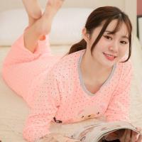 lingling日系 小熊貼布牛奶絲二件式睡衣組(全尺碼)