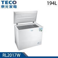 品牌月滿額登記送刀具組★TECO東元 194L上掀式單門冷凍櫃RL2017W
