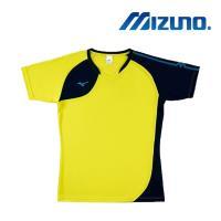 Mizuno 美津濃 男女 排球上衣 螢光黃+深丈青 V2TA8G1645