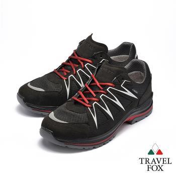TRAVEL FOX(男)太陽之子 歐洲進口耐冷熱防滑戶外登山鞋 - 黑紅色