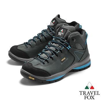 TRAVEL FOX(男) SPOTEX歐系登山系列 牛巴戈防震禦寒運動登山鞋 - 山嵐藍