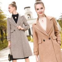 伊凡莎名媛時尚-法式氣質名媛顯瘦雙面毛呢大衣