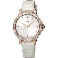 SEIKO精工 CS 絕代女伶晶鑽腕錶(銀x玫瑰金/31mm) 7N01-0HR0P SRZ490P1