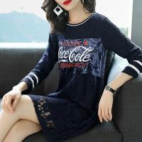 K.W.韓國 XL-4XL 歐美名模蕾絲繡花裝