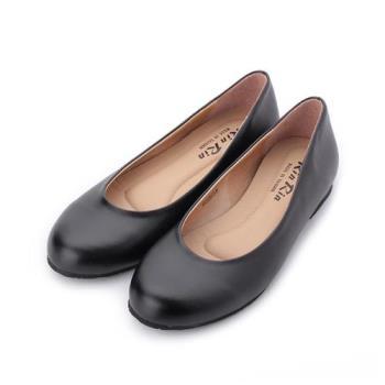 RIN RIN 素面仿皮平底鞋 黑 女鞋 鞋全家福