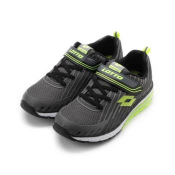 LOTTO 疾風氣墊跑鞋 灰綠 LT8AKR7078 大童鞋 鞋全家福