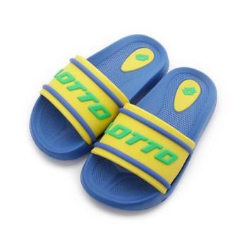 LOTTO Summer Play 輕量套式拖鞋 藍黃 LT8AKS7025 中大童鞋 鞋全家福