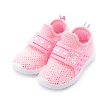 Hello Kitty 套式魔鬼氈休閒運動鞋 粉 718772 中童鞋 鞋全家福