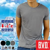 任-BVD 沁涼舒適 酷涼圓領短袖