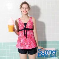 夏之戀SUMMERLOVE 大女長版三件式泳衣-加大碼S19705