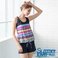 夏之戀SUMMERLOVE 大女連身褲二件式泳衣-加大碼S19708