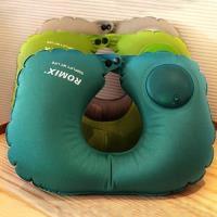 旅遊首選 旅行用品 按壓式U型靠頸枕 午睡枕 飛機枕 護頸枕