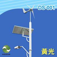DIGISINE 風光互補智能路燈 DS-001 - 12V系統/2000流明/黃光/白光 [太陽能發電] [風力發電機] [戶外照明路燈]