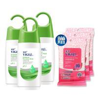 VIGILL 婦潔-淨護精油 私密沐浴露 3瓶特惠組(180ml/瓶X3 加送生理潔舒巾X3)