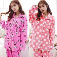 Pink Lady 保暖海島絨排扣成套睡衣(兩套組) 6606-1+6602-1