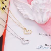DINA JEWELRY 蒂娜珠寶 對摺 925純銀CZ鑽項鍊 (JS7869)