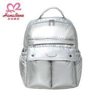 BabyTiger虎兒寶 HANA BENE  花花班尼 極輕感 大後背 全開式14格層防潑水空氣包-2件組-時尚銀