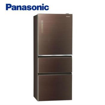 送商品卡吸濕毯+滿額送氣炸鍋★Panasonic國際牌500公升一級能效三門冰箱(翡翠棕)NR-C500NHGS-T (庫)