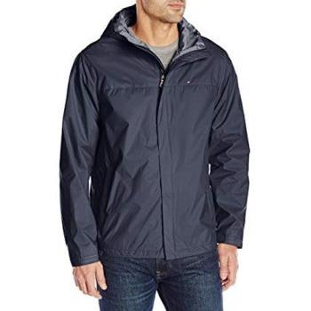 Tommy Hilfiger 2019男時尚防水透氣深藍色連帽薄外套