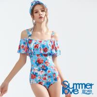 夏之戀SUMMERLOVE 大女連身三角兩件式泳衣E18705