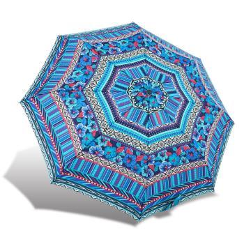 RAINSTORY雨傘-圖騰花漾(藍)抗UV個人自動傘