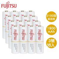 Fujitsu 富士通 AA 3號1900mAh低自放充電電池16入