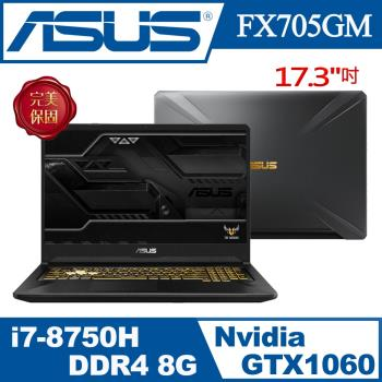 ASUS 華碩 FX705GM-0041A8750H 17.3吋FHD (i7-8750H/1TB8G SSH/256G SSD/W10) 魂動金