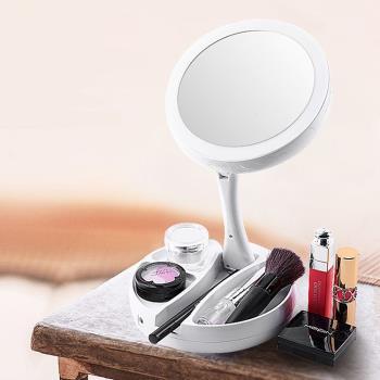 LED環形燈創意直立化妝鏡(1入)