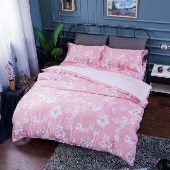 夢工場 巴黎戀人天絲四件式兩用被床包-加大