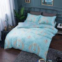 夢工場 似雲織錦天絲四件式兩用被床包-加大