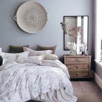 Indian 100%純天絲加大四件式兩用被床包組-織花