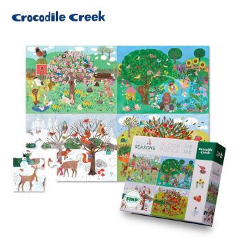美國Crocodile Creek  幼兒認知互動學習拼圖24片(多款可選)