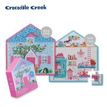美國Crocodile Creek  童話小屋雙面學習拼圖24片-寵物小屋