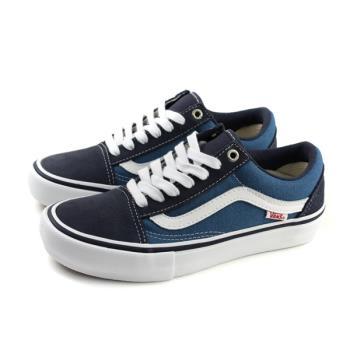 VANS Old Skool Pro Nav 休閒布鞋 帆布 藍 男女鞋 C020503 no502